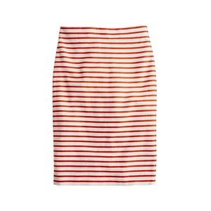 J. Crew No. 2 Pencil Skirt in Deck Stripe